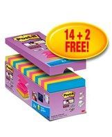 Post-it Z-Notes 76x76 Super Sticky V-Pack (16)