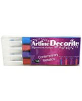 Artline Decorite bullet metallic 4-sæt