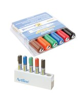 Whiteboard Marker Artline 517 6-sæt + holder