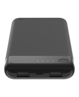BOOST CHARGE Power Bank 10K w/Lightning + USB, Black