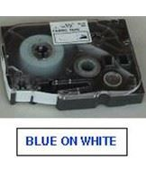 Brother TZe tape 36mmx8m blue/white