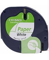 Tape LetraTag paper 12mmx4m white