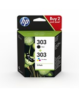 No303 black ink cartridge combo 2-pack blistered