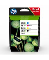 No963XL High Yield C/M/Y/K Ink Cartridge 4-Pack blistered