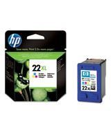 No22 XL color ink cartridge, blistered