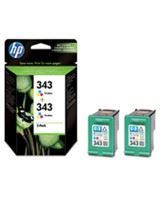 No343 color ink cartridge (2), blistered