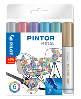 Marker Pintor Medium Metal Mix 1,4 ass (6)