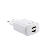 PNY Dual Wall Charger, White