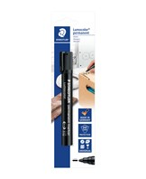 Marker Lumocolor Perm rund 2mm sort blister