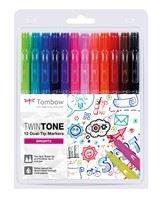 Marker Tombow TwinTone bright 0,3/0,8 (12)