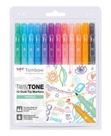 Marker Tombow TwinTone pastel 0,3/0,8 (12)