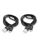 Micro B USB Cable Sync & Charge 100Cm Black + Micro B USB Ca