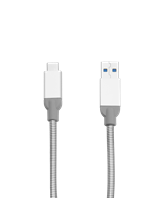 USB 3.1 Type-C To USB-A Stainless Steel Cable 30Cm