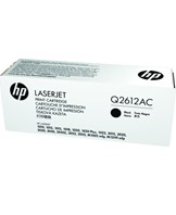 HP 12A - Sort - original - LaserJet - tonerpatron ( Q2612AC ) Contract - for LaserJet 10XX, 30XX, M1005, M1319